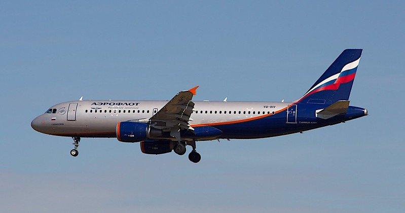 Un Airbus A320 de la compagnie aérienne russe Aeroflot
