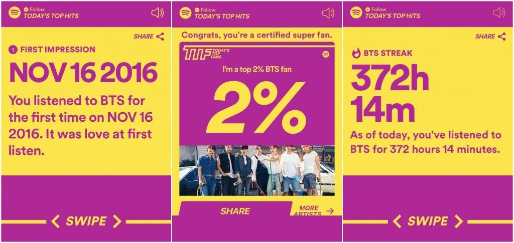 BTS Spotify top fan