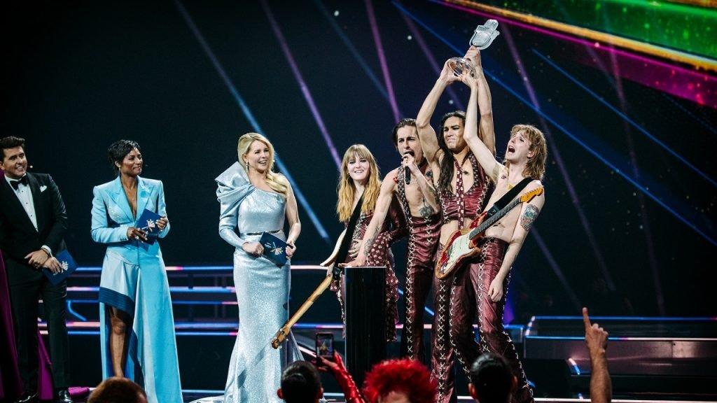 Eurovision podium Italie