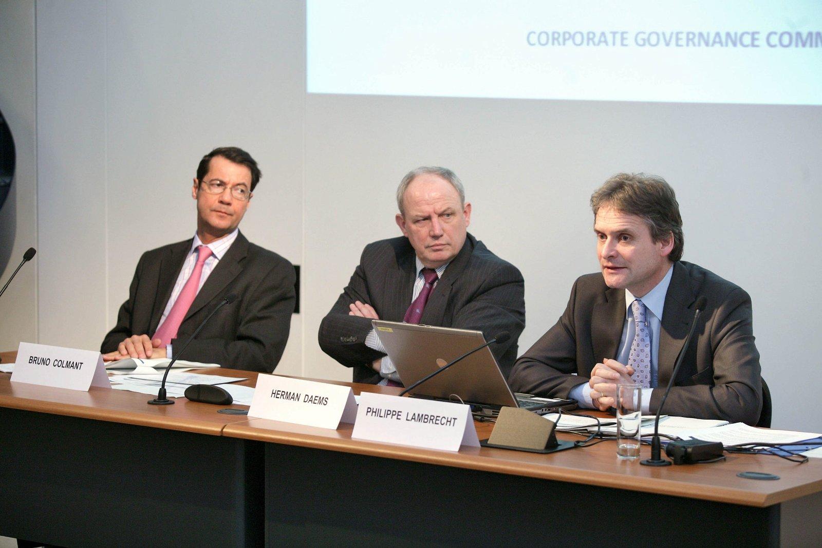 Philippe Lambrecht, bestuurder bij de Corporate Governance-commissie: 'Een moderne blik op de toekomst moet worden gegarandeerd.' - Etienne Ansotte/ISOPIX.