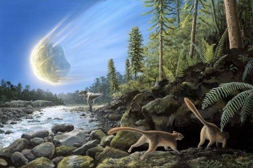 End Of Cretaceous Kt Event, Illustration