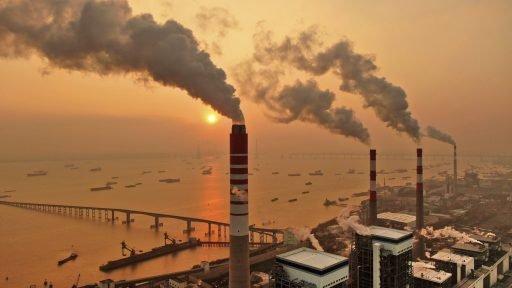 Een steenkoolcentrale in de Chinese provincie Jiangsu.