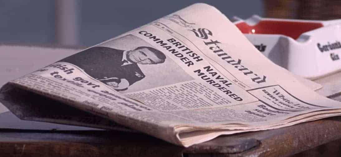 Un journal annonce le décès de James Bond.