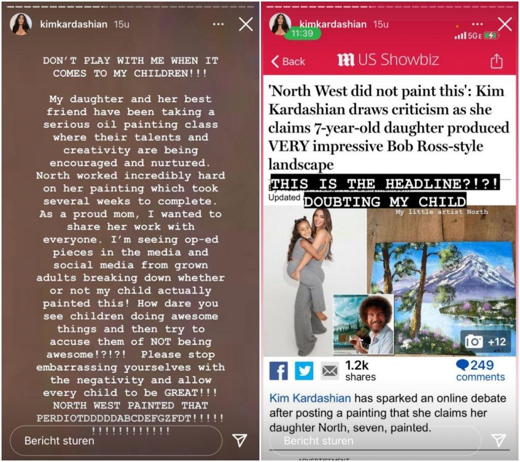 Kim Kardashian Bob Ross North