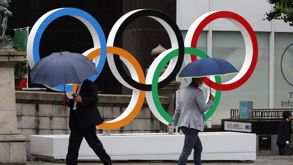 Olympische Spelen Tokio Japan paraplu