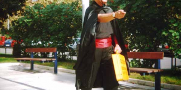 spanish debt collector disguised in Zorro