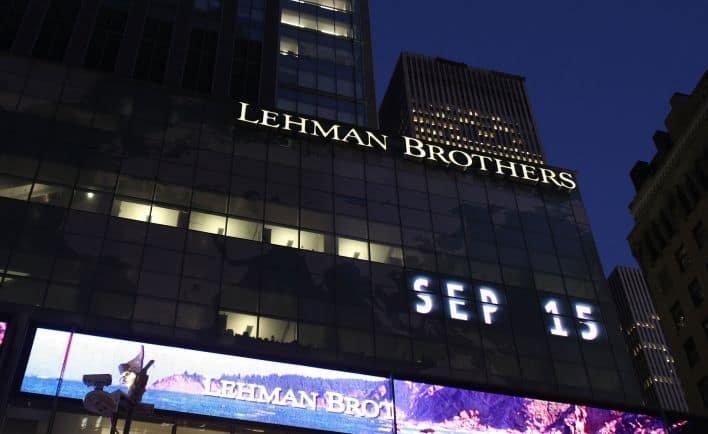 Le siège de la banque Lehman Brothers