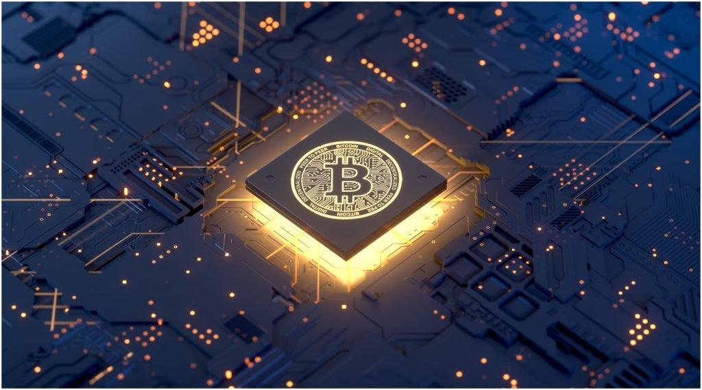 Het logo van Bitcoin