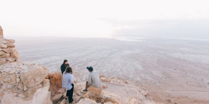 friends travel nature mountain canyon